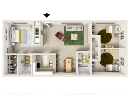 1 2 3 Bedroom Apartments for Rent Mountain View